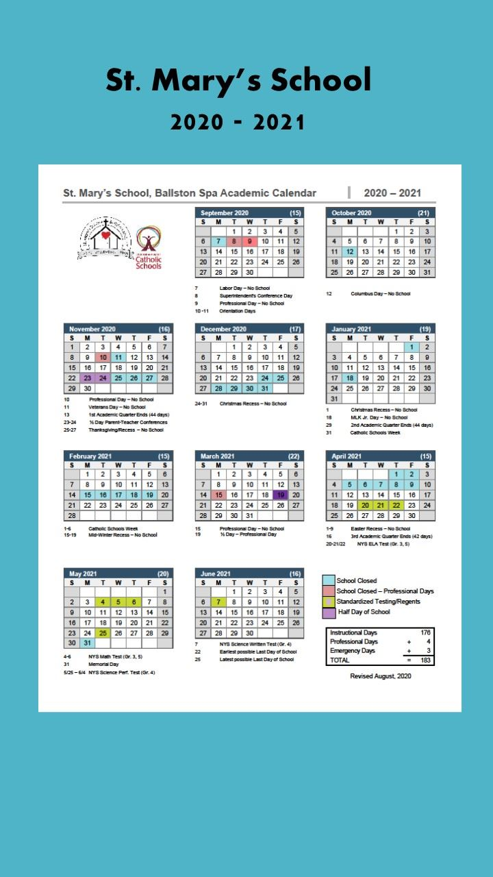 Revised 2020 - 2021 School Calendar